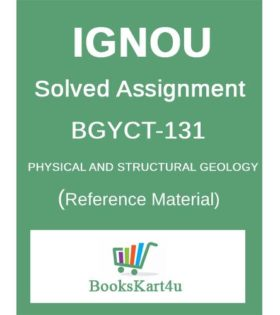 IGNOU BGYCT-131 Solved Assignment